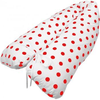 Těhotenský polštář Lulu červený EMI