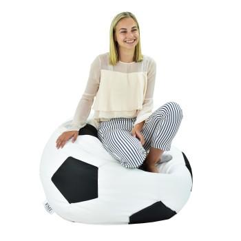 Sedací vak fotbalový míč bílo-černý EMI