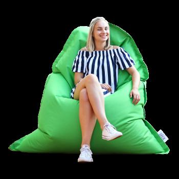sedací vak polštář zelený