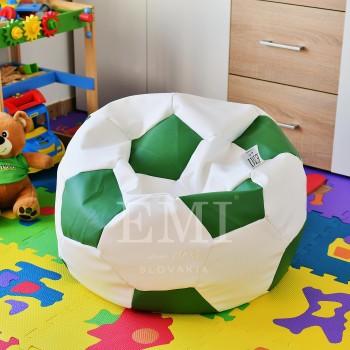 Sedací vak fotbalový míč malý bílo-zelený