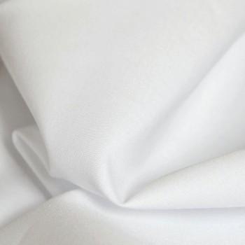 Látka metráž bavlna 100% bílá šířka 140 cm