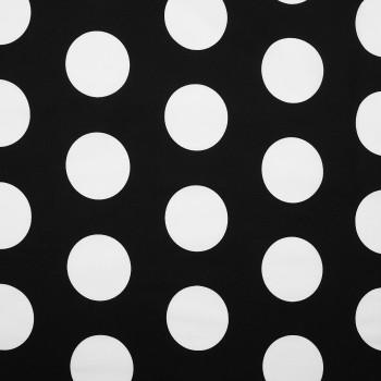 Látka metráž 100% bavlna delux Dots černá