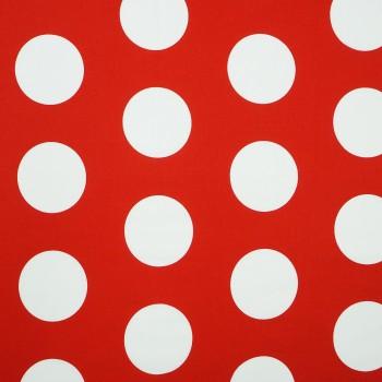 Látka metráž 100% bavlna delux Dots červená