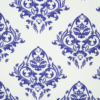 Látka metráž 100% bavlna delux Atény modrá