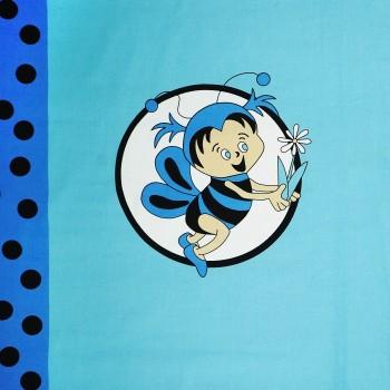 Látka metráž bavlna 100% Don Včelky modrá CNM