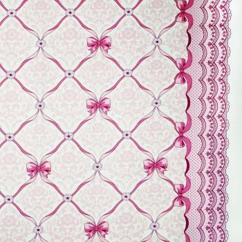 Látka metráž 100% bavlna delux Vintage růžová