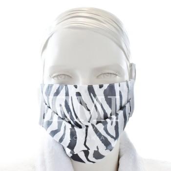 Ochranná rouška dvouvrstvá textilní šedá s gumičkou EMI