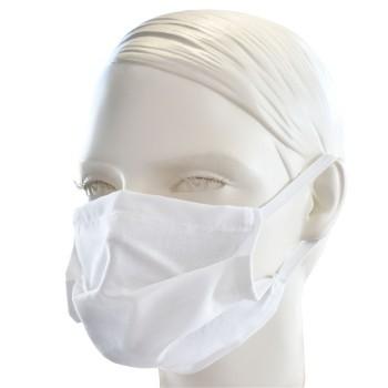 Ochranná rouška jednovrstvá textilní bílá s gumičkou EMI