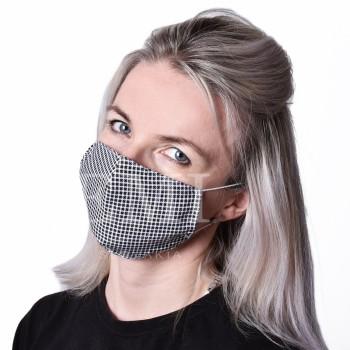 Ochranná rouška dvouvrstvá textilní Kostka s gumičkou EMI