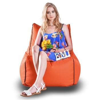 Sedací vak židle nylonová oranžová EMI