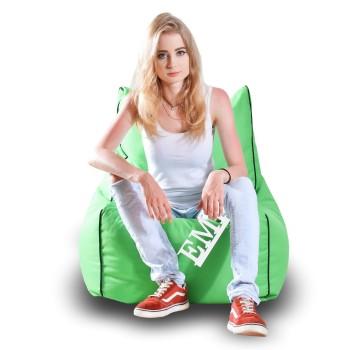 Sedací vak židle nylonová zelená EMI
