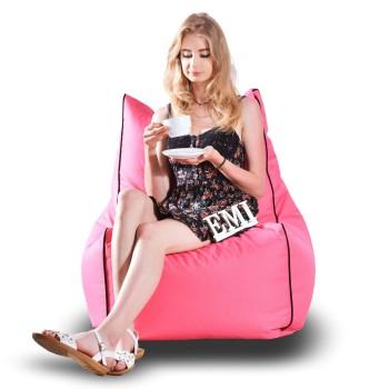 Sedací vak židle nylonová růžová EMI