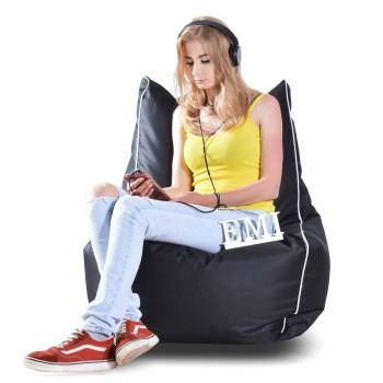 Sedací vak židle nylonová černá EMI