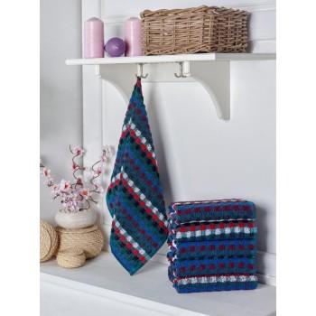 Sada barevných bavlněných ručníků 6 ks 50x70 cm