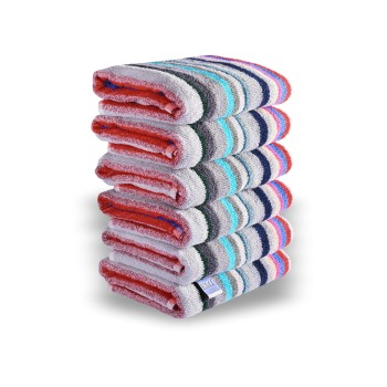 Sada barevných bavlněných ručníků 6 ks rozměr 50x90 cm