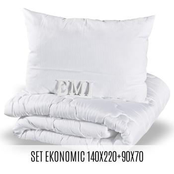 Set prodloužené přikrývky a polštáře Ekonomic 140x220 70x90 EMI