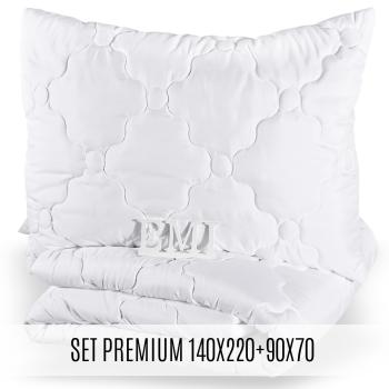Set prodloužené přikrývky a polštáře Premium140x220 90x70 EMI