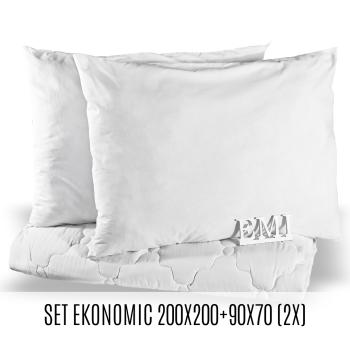 Set manželské přikrývky a polštářů Ekonomic 200x200 + 90x70 (2x) EMI