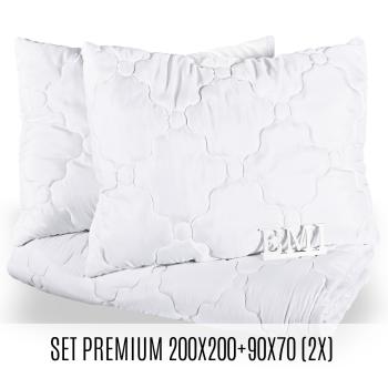 Set manželské přikrývky a polštářů Premium 200x200 + 90x70 (2x) EMI
