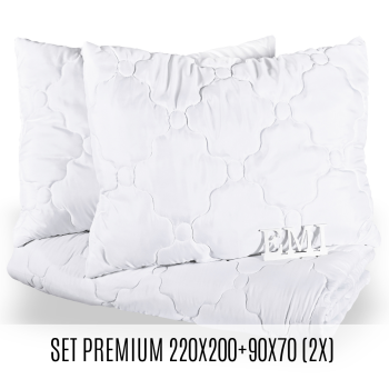 Set manželské přikrývky a polštářů Premium 220x200 + 90x70 (2x) EMI