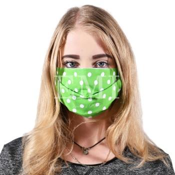 Ochranná rouška dvouvrstvá textilní zelená s gumičkou EMI