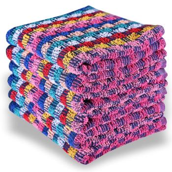 Sada barevných bavlněných ručníků 6 ks 50x70 cm Colorissima