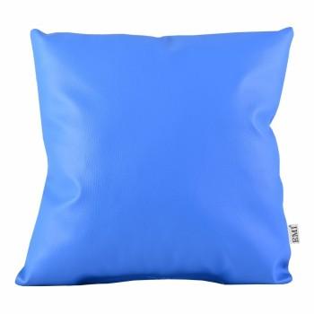 Polštář 40x40 modrý ekokůže EMI