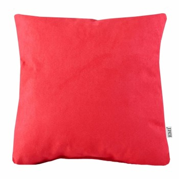Polštář červený semiš EMI
