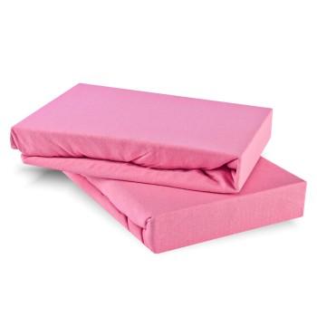 Prostěradlo růžové jersey EMI