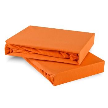 Prostěradlo oranžové jersey EMI