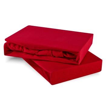 Prostěradlo červené jersey EMI
