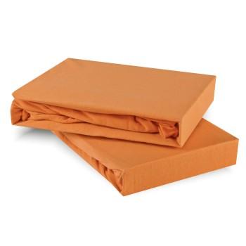 Prostěradlo oranžové meruňkové jersey EMI