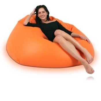 Sedací vak koule oranžová EMI