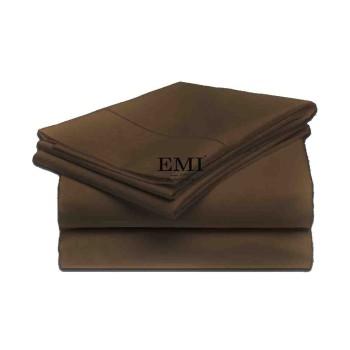 plachta postelna hneda pevna emi