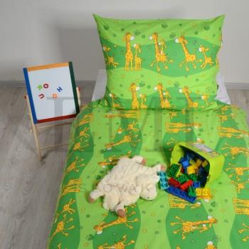 Povlečení dětské žirafy zelené EMI