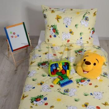 Povlečení dětské bavlněné dalmatin žlutý EMI