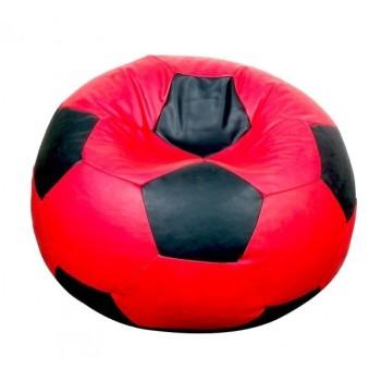 Sedací vak fotbalový míč červeno-černý EMI