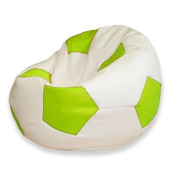 Sedací vak fotbalový míč bílo-limetkový EMI