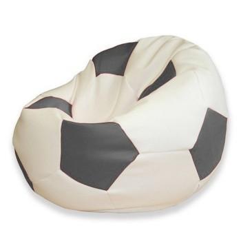 Sedací vak fotbalový míč bílo-šedý EMI