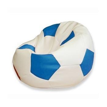 Sedací vak fotbalový míč bílo-modrý EMI