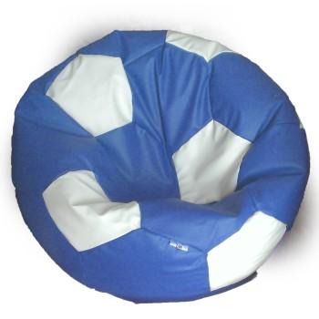 Sedací vak fotbalový míč modro-bílý EMI