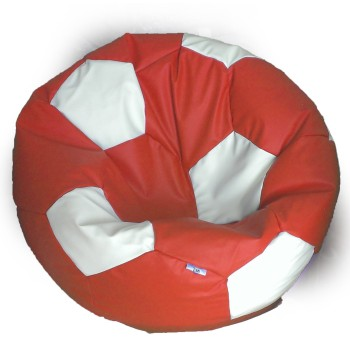Sedací vak fotbalový míč červeno-bílý EMI
