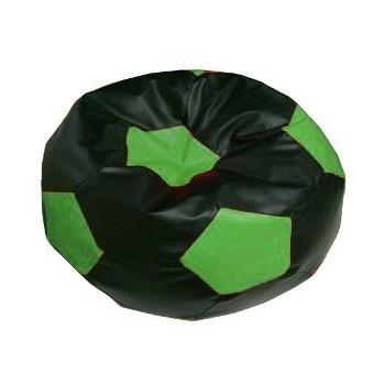 Sedací vak fotbalový míč černo-zelený EMI