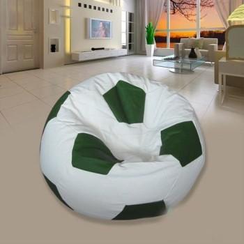 Sedací vak fotbalový míč bílo-zelený EMI