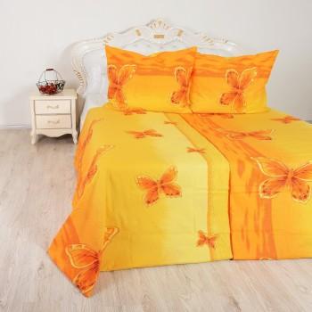Přehoz Motýli oranžový EMI