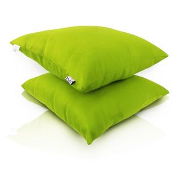 Polštář zelený semiš EMI