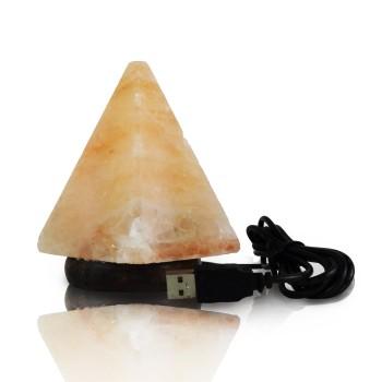 Solná lampa USB pyramida