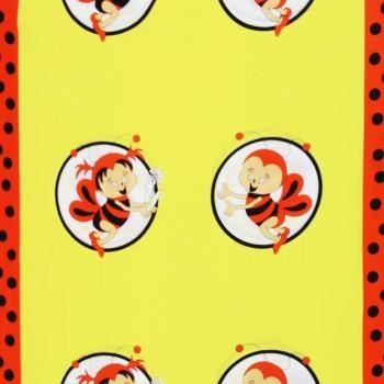 Látka metráž bavlna 100% Don Včelky oranžová CNM