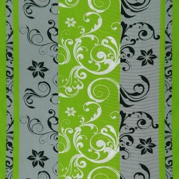 Látka metráž bavlna 100% Don Lilien zeleno-šedá CNM