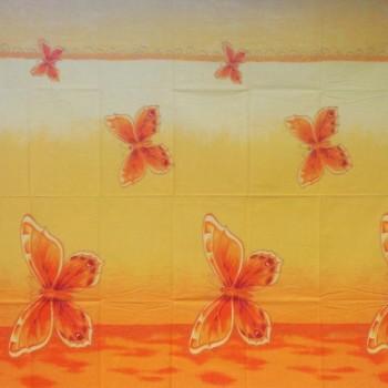 Látka metráž bavlna 100% Don Motýli oranžová CNM